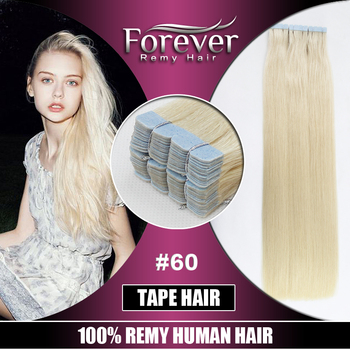 5ef083a90e Forever Brazilian Virgin Hair Color 60 Straight Wavy Tape Hair Extension  Platinum Blonde Remy Hair - Buy Tape Hair Wavy,Tape Hair Extension Remy ...