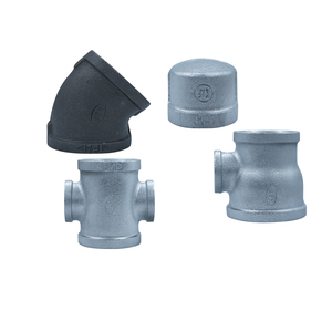 Hot Sell Galvanized Malleable Iron Pipe Fitting plug plain cast iron pipe cap round