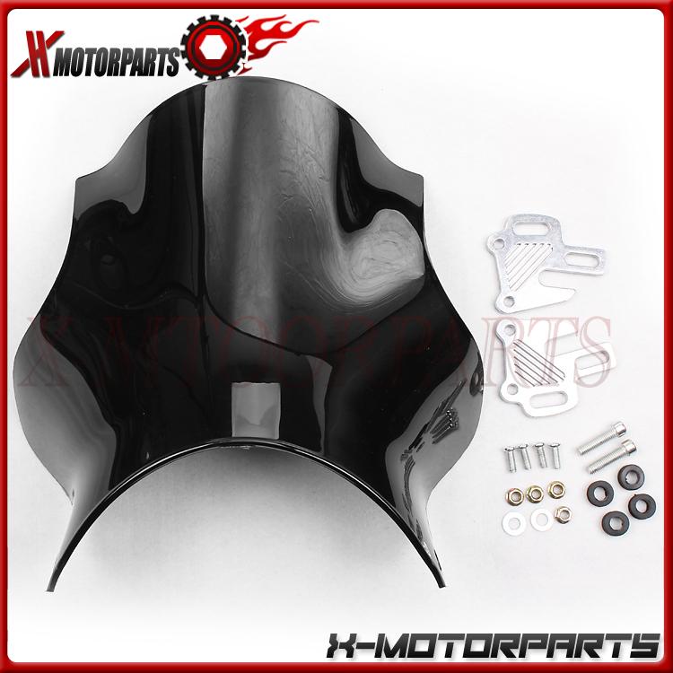 2 цветов мотоцикл ветрового стекла для HONDA CB400 VTEC XJR SF все годы