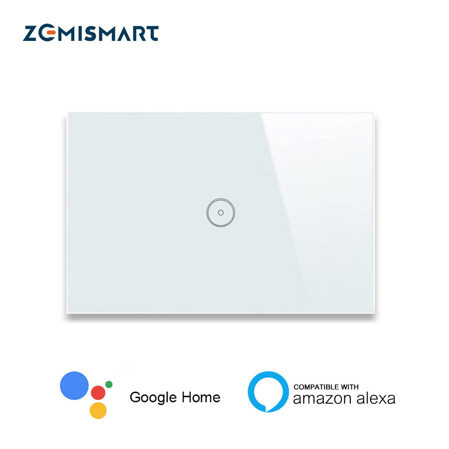 Zemismart ONS AU Werken met Alexa Direct Smart Home Afstandsbediening Siri Controle Light Panel Controle via APP Wifi Wandschakelaar