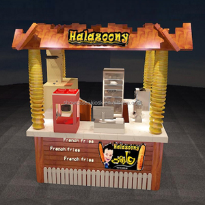 Newest French fries indoor food kiosk design concept