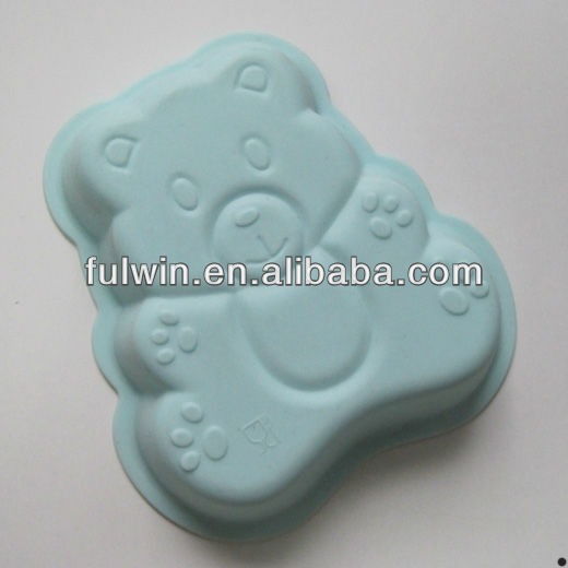 3D bear shaped silicone cake mould