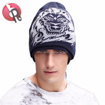 Mens Cool Warm Beanie Hats Winter Skullies Soft Knitting Crochet