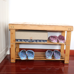 2018 new fashion style Bamboo wooden shoe rack/ wood shoe shelf with high quality