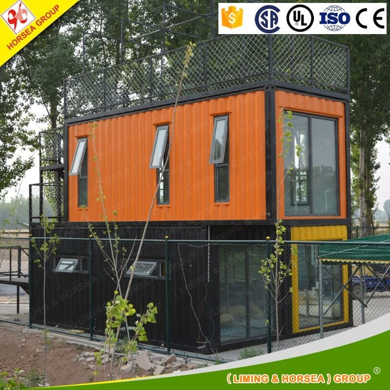easy operation customized metal construction small modern prefab containers wood cabin houses