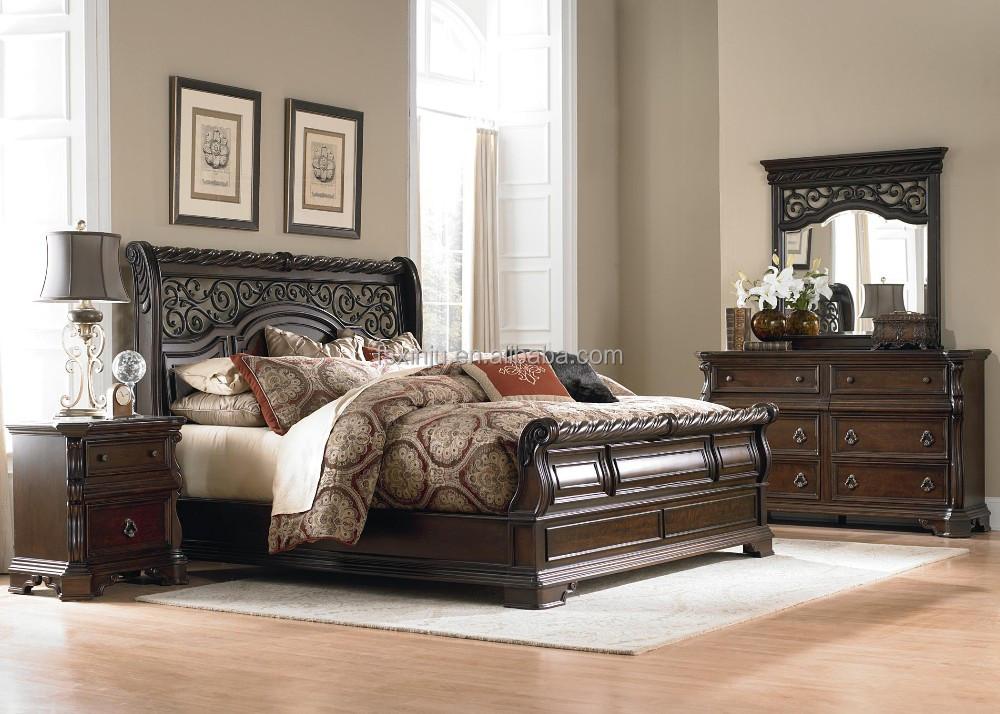 prieel plaats traditionele amerikaanse stijl slee queen bed, Meubels Ideeën