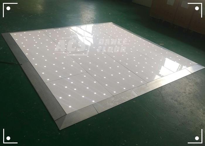 Portable Lighted Dance Floor : Wireless light up starlit portable led dance floor for