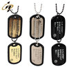Popular sales factory supply High-quality stainless steel custom American metal dog tag with chain