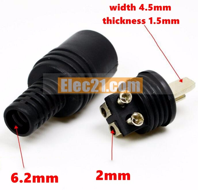 2pin din hifi speaker plug audio connector T type