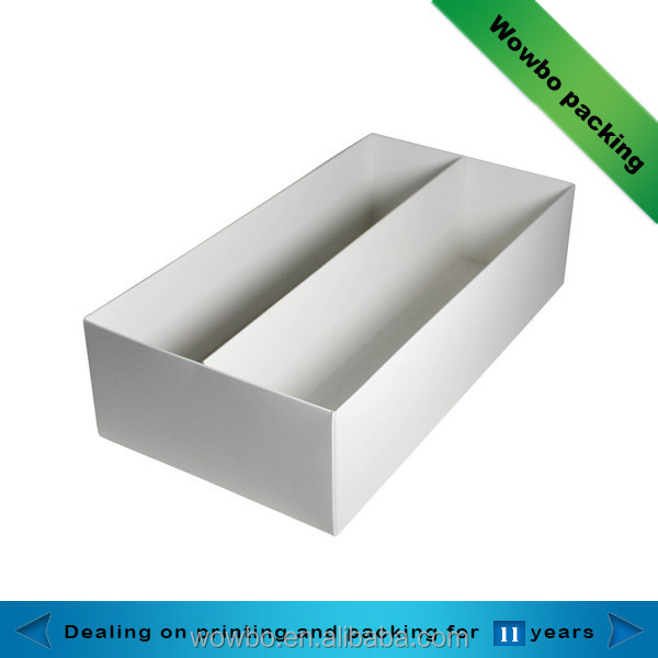 No print two wine bottle packaging box