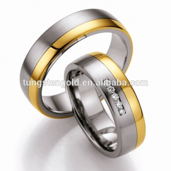 18k Gold Plated Couple Wedding Rings Newest Design Couple Rings For