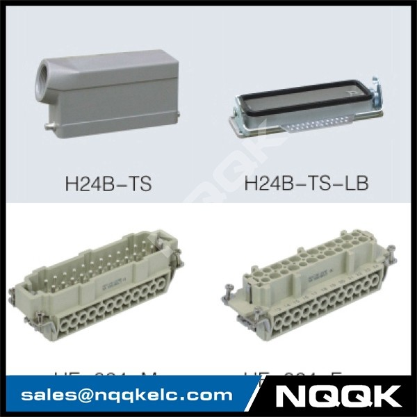 1 24 pin Screw spring crimp terminal Inserts surface mouned heavy duty sockets connector with 1 levers.jpg