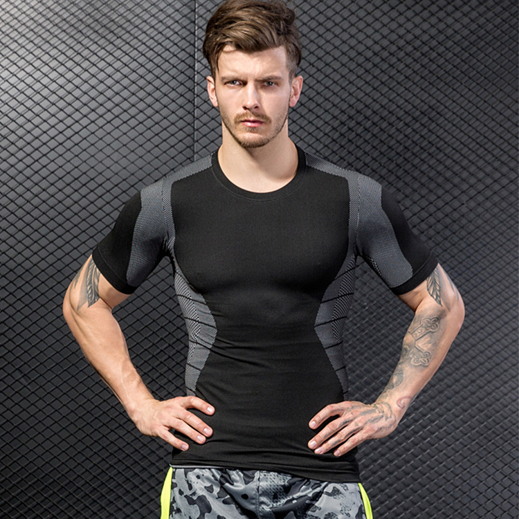 2018 New Arrival Short Sleeve Fitness Breathable Men Dry Fit Wholesale Gym Wear For Running 11