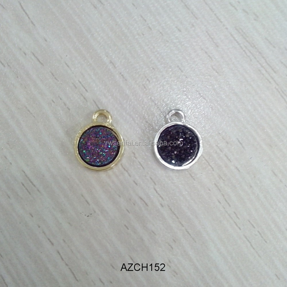 best selling wholesale assorted colors rough amethyst druzy pendant