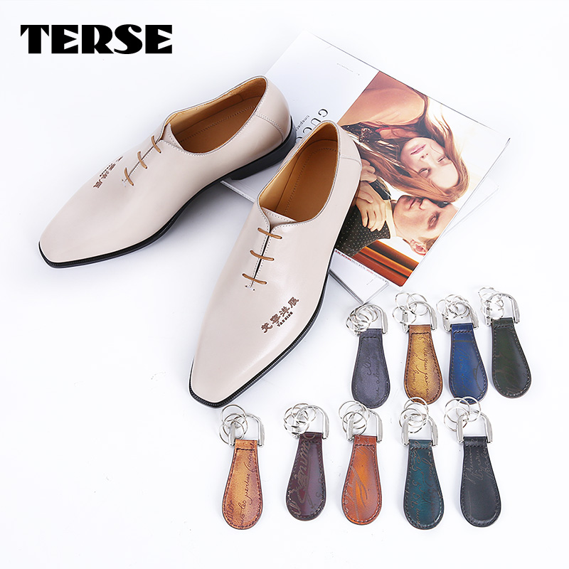 TERSE Italian custom mens designer dress shoes handmade genuine leather goodyear welt footwear China supplier