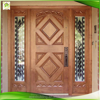 Residential American Exterior Front Doors For Houses With Side Panels
