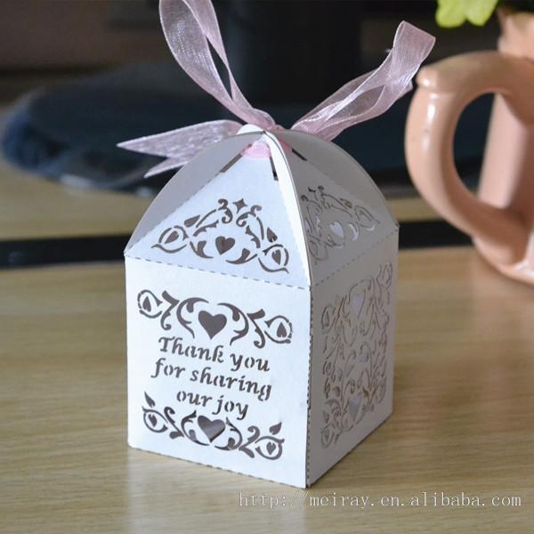Sweet Love Vine Favor Bo With Custom Names Ivory Red Personalised Wedding Laser Cut
