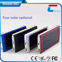 Dual usb power bank solar charger with 5000mah capacity for Xmas Season promotion