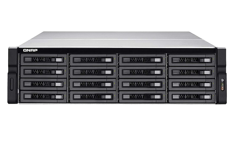 QNAP | TVS-EC1680U-SAS-RP-16G-R2-US | QNAP 16-bay 10GbE NAS and iSCSI/ IP-SAN. 3U,, SAS/SATA 6G, 4 x 1GbE, 2 x 10GbE (SFP+), 40GbE-ready, Redundant PSU (4TBx 16) Bundle.