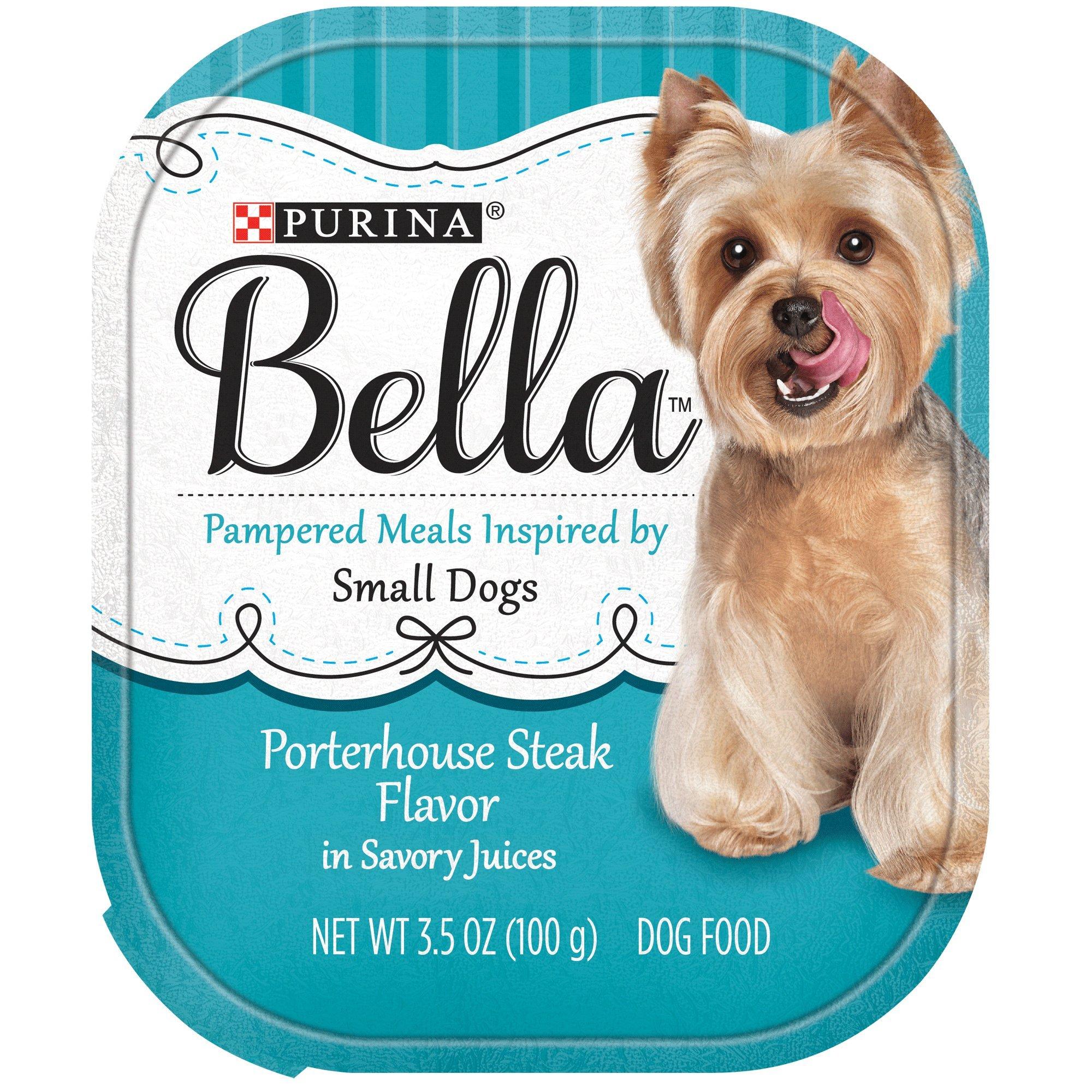 Purina Bella Porterhouse Steak Flavor in Savory Juices Adult Wet Dog Food - 3.5 oz. (1) Single Tray (Porterhouse Steak, Single 3.5 oz. Piece)