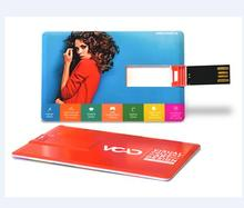 Plastic card usb flash drive blank credit card pen drive 8gb