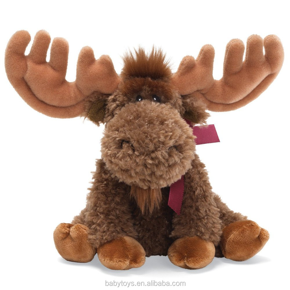 2015 hot selling christmas moose stuffed and plush toyschristmas moose decorations