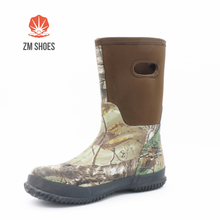 Wholesale camo cheap muck rain boots with fabric upper
