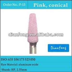 HP pink conical fine corundum abrasive for alloy
