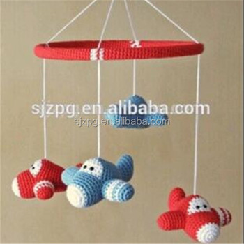 Whole Nursery Crochet Airplane Baby Mobile
