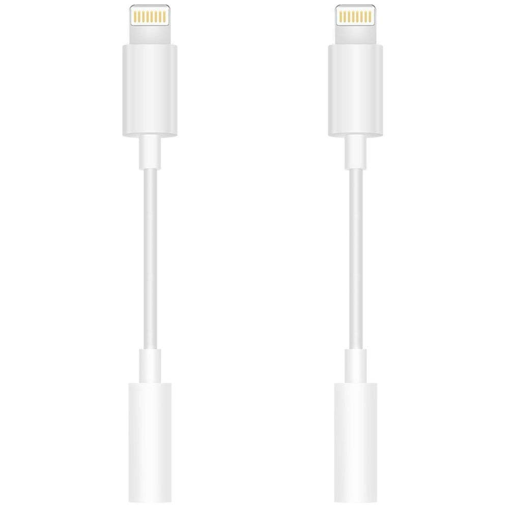 2 Pack Lighting to 3.5mm Headphone Jack Adapter, Headphone Adapter Compatible Phone X 10 8 7, Jackiey 3.5 mm Headphone Adapter Connector Earphone Jack Stereo, Support Music Control & Calling Function