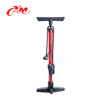 High pressure bike pump accessories / cheap price bicycle pump with gauge /2018 new model America standard bike air pump