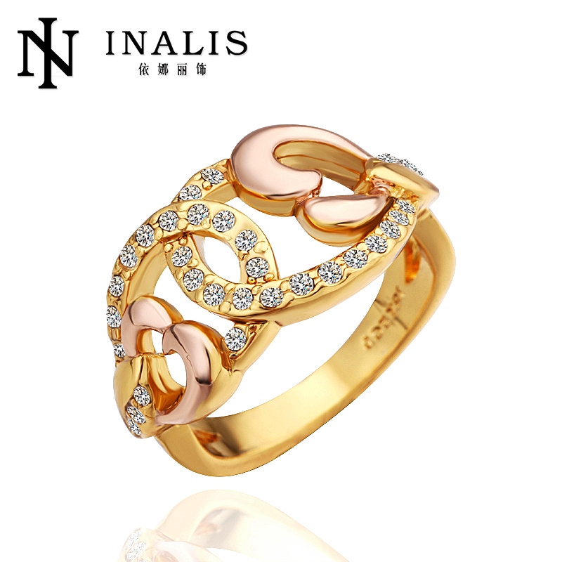 Wholesale new design tin alloy gold ring designs for men R260