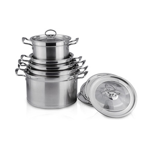 Wholesale magnetic stainless steel kitchenware cookware