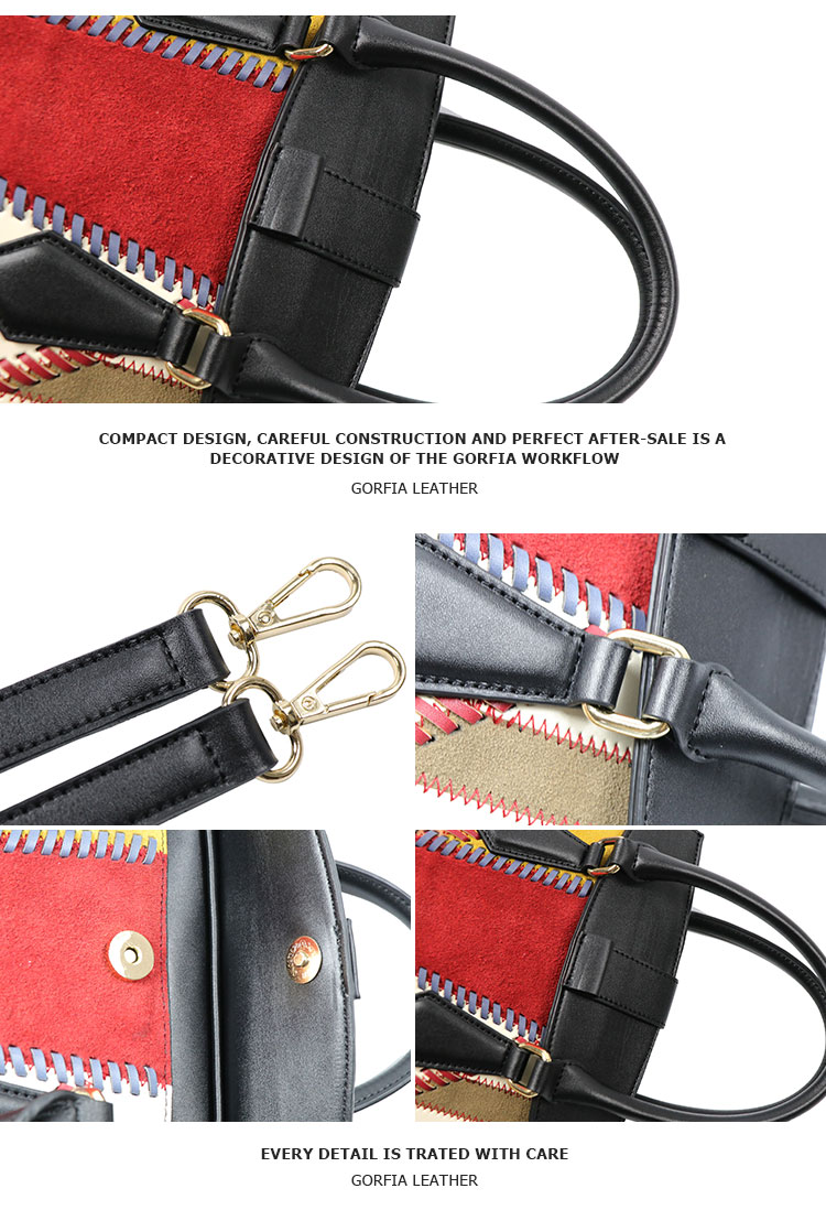 New arrival magnetic buckle genuine leather women / lady high quality leather bag