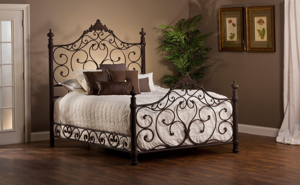 85c9902c92c65e Get Quotations · Hillsdale Baremore Wrought Iron Style Bed, Queen with Bed  Frame