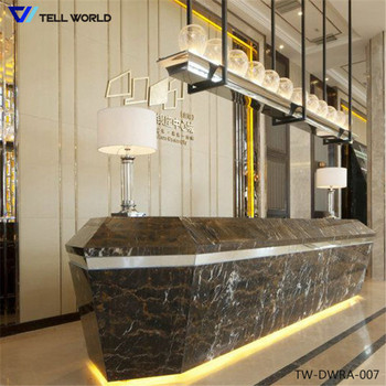led hotel reception desk restaurant cash counter design office front desk counter - Hotel Reception Desk Design