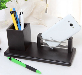 Office Supplies MDF Material Desk Organizer Pen Holder