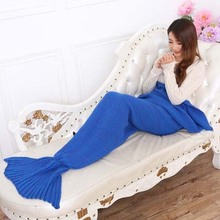 2016 Acrylic Adult knitted Mermaid tail blanket for Christmas Gift