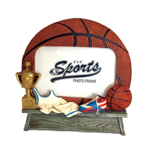Basketball Shaped Picture Frame - Perfect for Sports Team Photo Frame