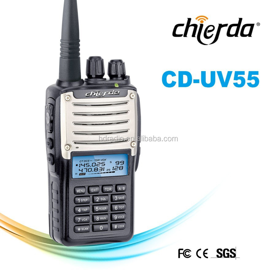 UHF/VHF frequency dual band best two way radio licence (CD-UV55)