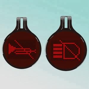 75pcs editable emotions car led messages/led car message sign
