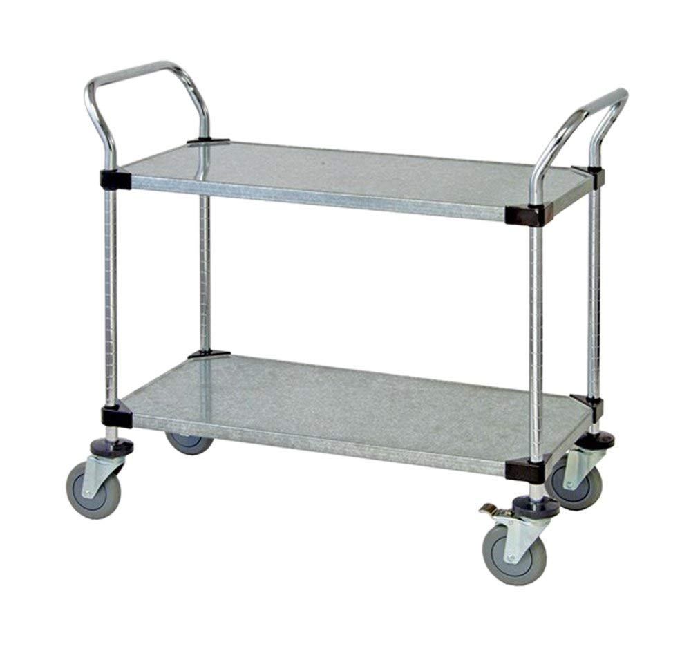"""Quantum 2 Solid Shelf Mobile Utility Cart 24""""""""W x 42""""""""L x 37-1/2""""""""H , Automotive, tool & industrial , Office maintenance, janitorial & lunchroom , Carts , Service/utility"""