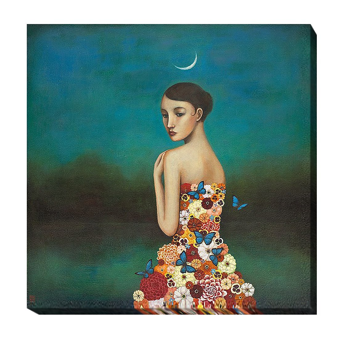 Duy Huynh Boundlessness in Bloom Fantasy Flower Supernatural Print Poster 26x26