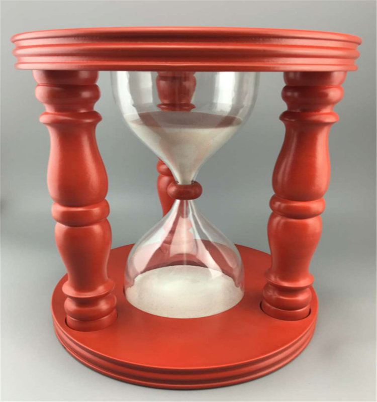 5 min  15min large hourglass wood sand timer