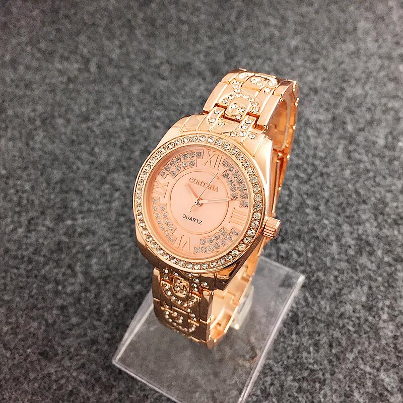 19dea9194fb Das mulheres romanas deusa requintado diamante senhoras relógio relógio de  Forma de diamante das mulheres assistir