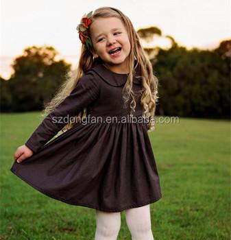 bc2398d1a19 Professionnel Enfant Vêtement Usine 2 Ans Robe de Fille Robe En Lin Pour  L automne