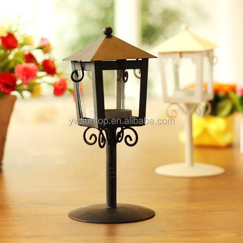Hot Sale Mini Wrought Iron Metal Lantern Candle Holder Wedding ...
