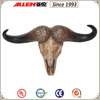 "18"" lifelike goat head with horn statue, animal head wall hanging"
