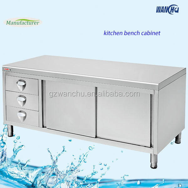 Canada kitchen island base cabinet stainless steel commercial kitchen cabinet china factory - Commercial stainless steel kitchen island ...