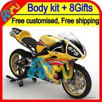 Racing gold 8Gifts Body For TRIUMPH Daytona 675 2012 2013 HM670 Daytona675 Racing black 12-13 12 13 Fairing Kit